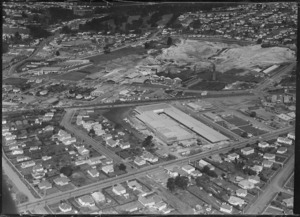 New Lynn, Waitakere City, Auckland, with shopping centre under construction