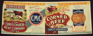 Christchurch Meat Company Limited :Corned beef, quality guaranteed. Ch[rist]ch[urch] Press Co Litho's, N.Z. [1906-1920?]