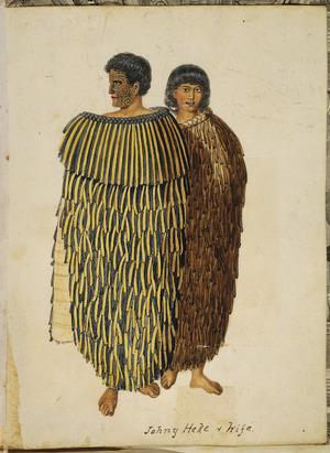 [Merrett, Joseph Jenner] 1815-1854 :Johny Heke & wife [ca 1845]