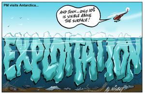 Nisbet, Alastair, 1958- :[PM visits Antarctica] 20 January 2013