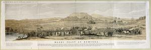 [Merrett, Joseph Jenner] 1815-1854 :Maori feast at Remuera. Star Steam Litho., Auckland. [Auckland, H Brett] 1890
