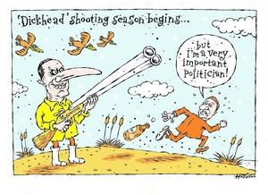 Hodgson, Trace, 1958- :'Dickhead' shooting season begins... 5 May 2013