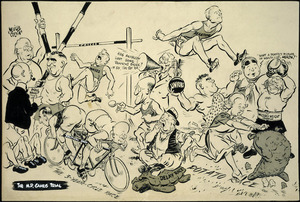 Colvin, Neville Maurice, 1918-1991 :The M.P. Games trial. Evening Post, 26 November 1949.