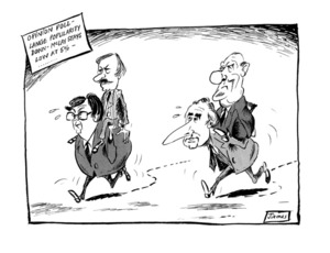 Lynch, James Robert, 1947- :'Opinion poll - Lange popularity down - McLay stays low at 5%...' 10 Jun 1985