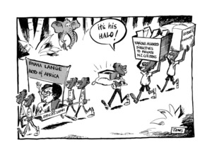 Lynch, James Robert, 1947- :'Bwana Lange Hero of Africa' 8 April 1985