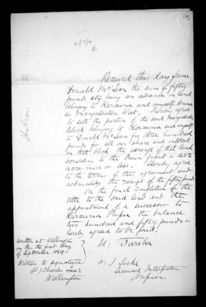 Correspondence and other papers in Maori