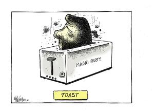 Hubbard, James, 1949- :Toast. Maori Party. 2 July 2013
