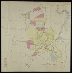 [Creator unknown] :[Forestry tracks in Tongariro timber areas and Maori historical places, Lake Taupo] [map with ms annotations]. [1946]