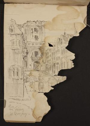 O'Grady, James, 1882?-1956 :Rue de Thiers, Le Quesnoy. [1918]