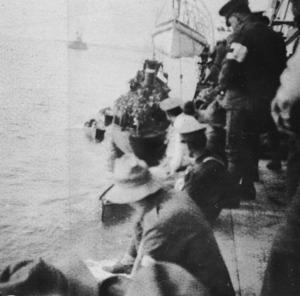 Troops preparing to disembark, Gallipoli, Turkey