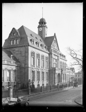 The New Zealand Divisional Headquarters at Leverkusen, Germany, 1919