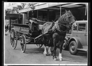 Creator unknown :Photograph of Wardell Brothers horse drawn cart, Wellington