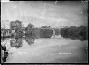 Waipa Bridge over the Waipa River at Ngaruawahia, 1910 - Photograph taken by G & C Ltd