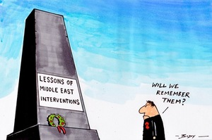 Body, Guy Keverne, 1967-:'Lessons of Middle East interventions' 27 April 2015