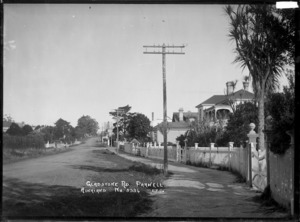 View looking along Gladstone Road, Parnell, Auckland