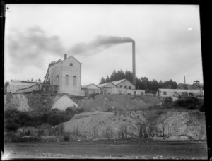 Creator Unknown :Photograph of Martha Mine, Waihi