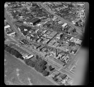 City Destructor, Drake Street factories, and other unidentified buildings, Freemans Bay, Auckland