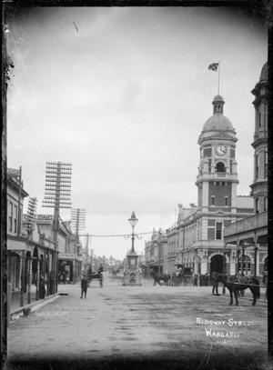 View of Ridgway Street, Wanganui