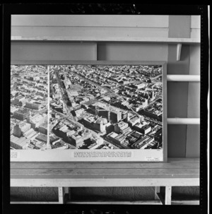 Government building, Civic Centre, Auckland, photograph used in the Changing Auckland Exhibition