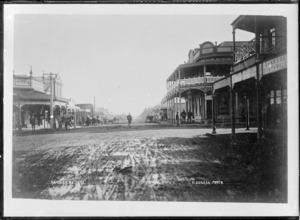 Looking down a main street in Kaponga, South Taranaki - Photograph taken by David Duncan