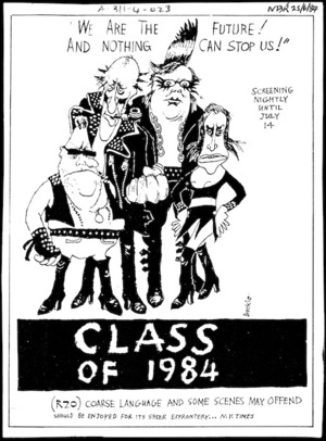 Brockie, Robert Ellison, 1932- :Class of 1984. National Business Review, 25 June 1984.