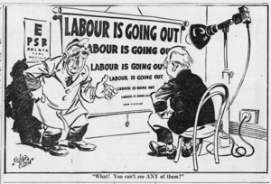 Colvin, Neville, 1918-1991 :What! You can't see ANY of them? The Evening Post, 21 November 1947.