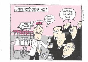 Brockie, Bob, 1932-:Key the milkman in China. 12 March 2014