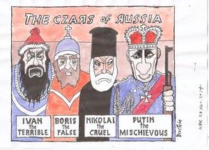 Brockie, Bob, 1932-:Putin the Czar. 28 November 2014