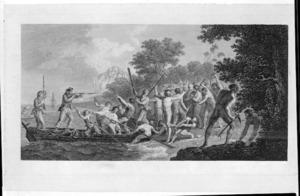Hodges, William, :The landing at Erramanga, one of the New Hebrides. London, 1777.