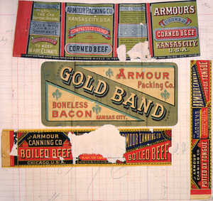 Armour Canning Company (Firm) :[Four labels for Corned beef; Boneless bacon; Boiled beef; and, Potted ox-tongue. 1890-1920?]