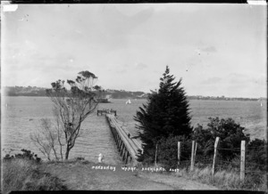 View of Ponsonby Wharf looking towards the North Shore