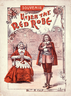 """Artist unknown: Souvenir [of the play] """"Under the red robe"""". [Cover. Melbourne, 1898]."""