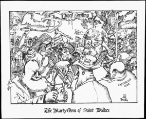 Brockie, Robert Ellison, 1932- :The martyrdom of Saint Wallace. National Business Review, 1975.
