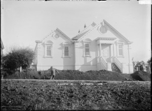 Front view of the Masonic Hall, Northcote, Auckland