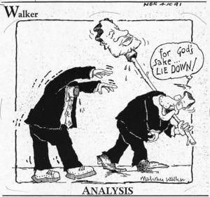 Malcolm Walker, 1950- :Analysis. For God's sake ... lie down! National Business Review, 4 October 1991.