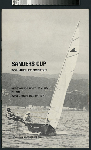 Programme cover - Sanders Cup, 50th Jubilee Contest