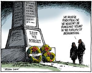 Tremain, Garrick 1941-: Lest we forget. 24 April 2011