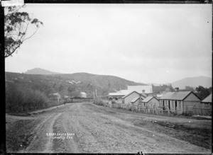 The Great South Road leading out of Huntly, ca 1910s