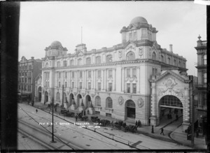 General Post Office and the Queen Street Railway Station, Auckland