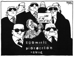 Hubbard, James, 1949- :Egomatic protection squad. 9 May 2011
