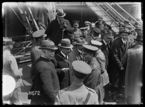 The ministers on the Quay immediately after their arrival in France, Boulogne