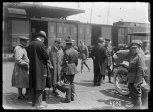 The Secretaries at the Port of Arrival in France, Boulogne