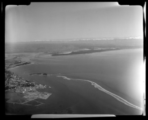 Aerial view of Waimea Inlet, Tasman Bay