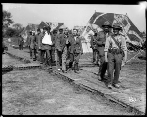 German wounded captured at Messines arrive at the New Zealand Field Hospital