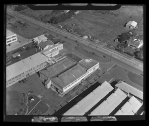 Scene in Penrose, Auckland, including the factory of National Brush Company (NZ) Ltd