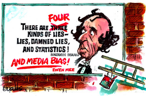 "Lies - quotes from Benjamin Disraeli and ""Ewen Mee"" about lies, statistics, and media bias"