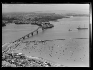 Waitemata Harbour, including Auckland Harbour Bridge and Westhaven Marina
