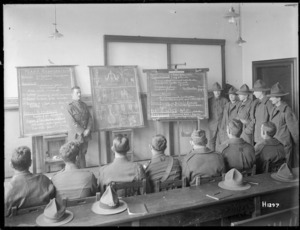 New Zealand soldiers receive educational instruction in Mulheim, Germany, 1919