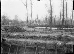 The ruined French village of Hebuterne in World War I