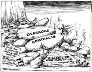 Tremain, Garrick 1941- :Offshore contracts - Hillside Workshops. 9 June 2011